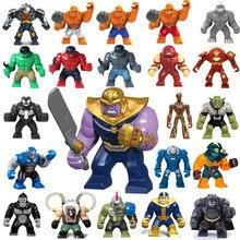 Большой Decool Thanos Большой Анти яд Riot Carnage Зеленый Фонарь Халк Бастер Гоблин вещь строительный блок Фигурки игрушки для детей