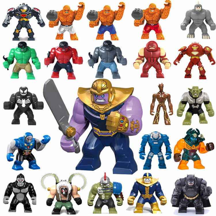 New Big Decool Thanos Large Anti Venom Riot Carnage Green Lantern Hulk Buster Goblin Thing Building Block Figures Toy For Kids
