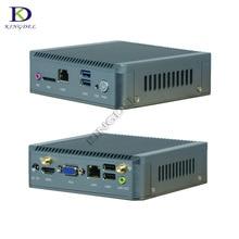 Безвентиляторный мини-ПК компьютер Celeron J1900 до 2.42 ГГц промышленных неттоп pc tv box Дизайн Micro Windows7 OS 1 * com настольный компьютер