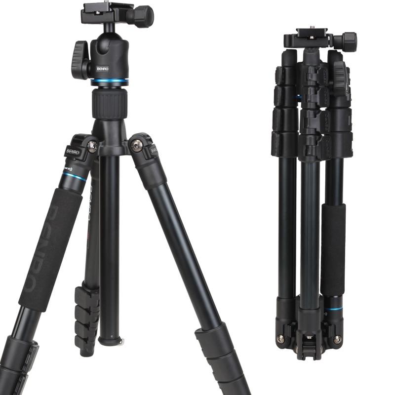 DHL Kostenloser Versand BENRO IT25 Tragbare Kamera Stativ Gebogen Removerble Reisen Einbeinstativ Tragetasche Max Laden 6 kg