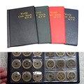 120 Titulares de Coin Collection Almacenamiento Money Pockets Album Libro Recopilación de Centavo Moneda Visibles de Protección Álbum de Color Al Azar