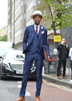 Navy Blue Formal Custom Beach Bridegoom Wedding Suits For Men Latest Coat Pant Designs Slim Fit 3 Pieces Groom Tuxedo Masculino