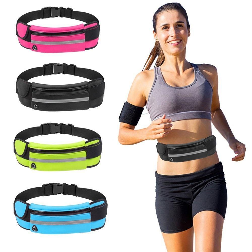 Waist Bag Men Women Outdoor Stretch Sports Belt Pockets Mobile Phone Bag Cycling Running Walking Fitness Dropship#20