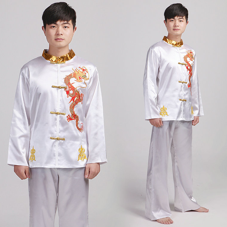 Chinese Dragon Martial Arts Kung Fu Male Erhu Guzheng Clothes Formal Drum Dance Costume Yongko Dancechoral Service Costumes