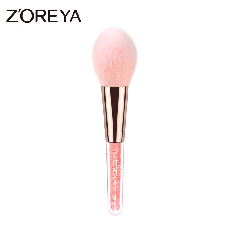 ZOREYA Brand New Arrival Beauty Crystal Handle Makeup Blush Face Brush Super Soft Makeup Brushes Rose Gold Cosmetic Brushes Tool new store free shipping beauty and the beast rose gold makeup brush cosmetic brush woman gift eyeshadow contour concealer