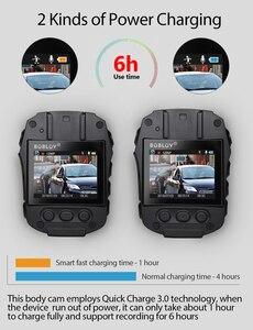 Image 3 - BOBLOV PD50 מלא HD 1296P גוף מצלמה משטרת IR ראיית לילה מיני לנטנה policial וידאו מקליט Dvr WDR אבטחת כיס לנטנה