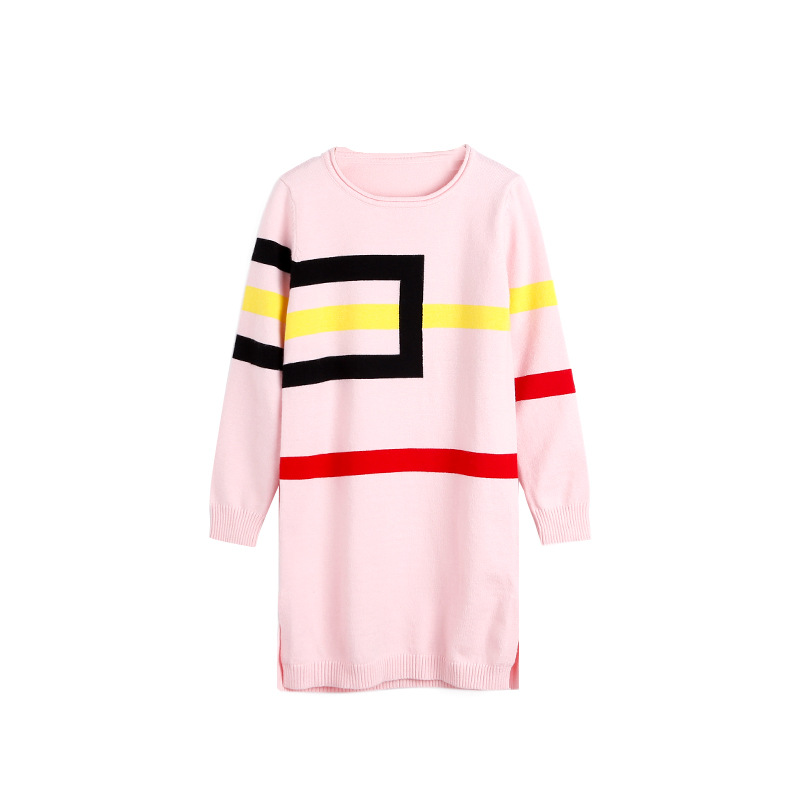 все цены на 5 6 7 8 9 10 11 12 13 Years Girls Casual Dress Autumn Sweater Kids Dresses Teenagers Baby Girl Elegant Dresses Children Clothes