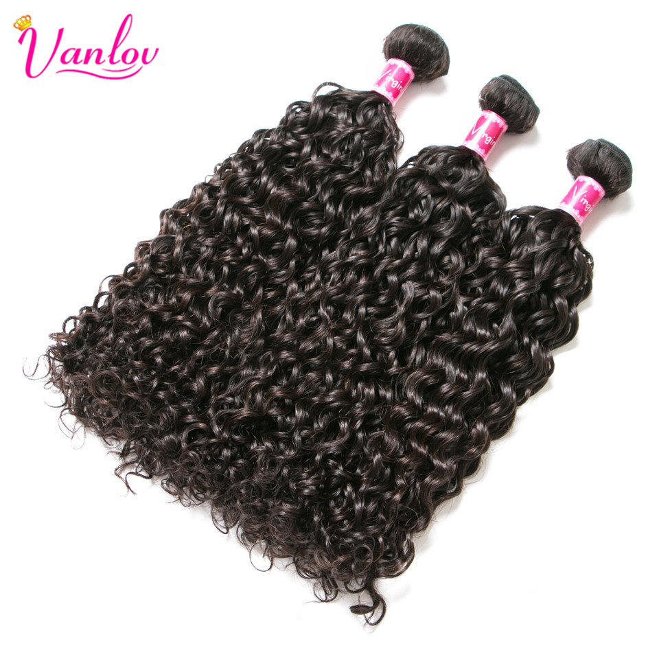 HTB1XqfMXjzuK1Rjy0Fpq6yEpFXat Vanlov Human Hair Bundles With Frontal Brazilian Water Wave With Closure Frontal With Bundles #1B #1 #613 More Expensive Remy