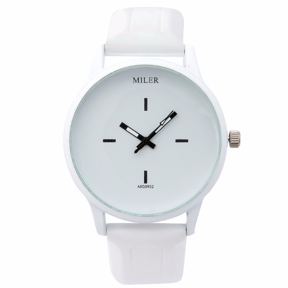 2016 New Fashion Watch Harajuku Style Color Silicone Band Watch Women Simple Popular Korea Style Student Casual Quartz Clock