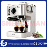 semi automatic household coffee making machine stainless steel steam coffee pot for shops