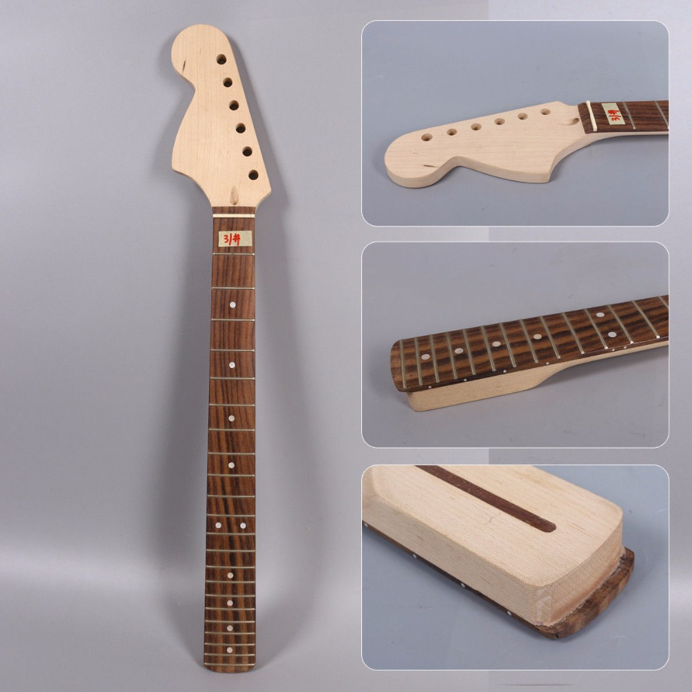 One left hand electric guitar neck big head 25.5'' inch 22 MAPLE made and Rosewood fingerboard цена