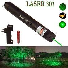 Зеленый лазерный прицел высокой мощности охотничий зеленый точечный Тактический 532 нм 5 мВт 303 лазерная указка verde лазер ручка головка горящая спичка
