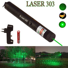 Green Laser sight High Power hunting Dot tactical 532 nm 5mW 303 laser pointer verde lazer Pen Head Burning Match