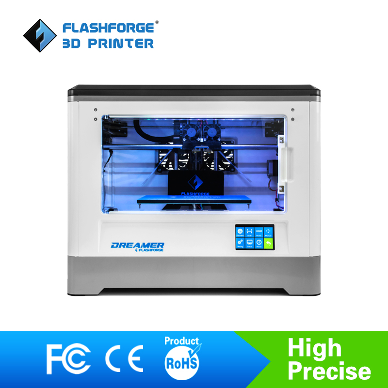 Flashforge 3D Printer Dreamer WIFI and touchscreen with CE FCC Certificate Dual Extruder Fully Enclosed Chamber W/2 Free Spool 3d принтер flashforge dreamer
