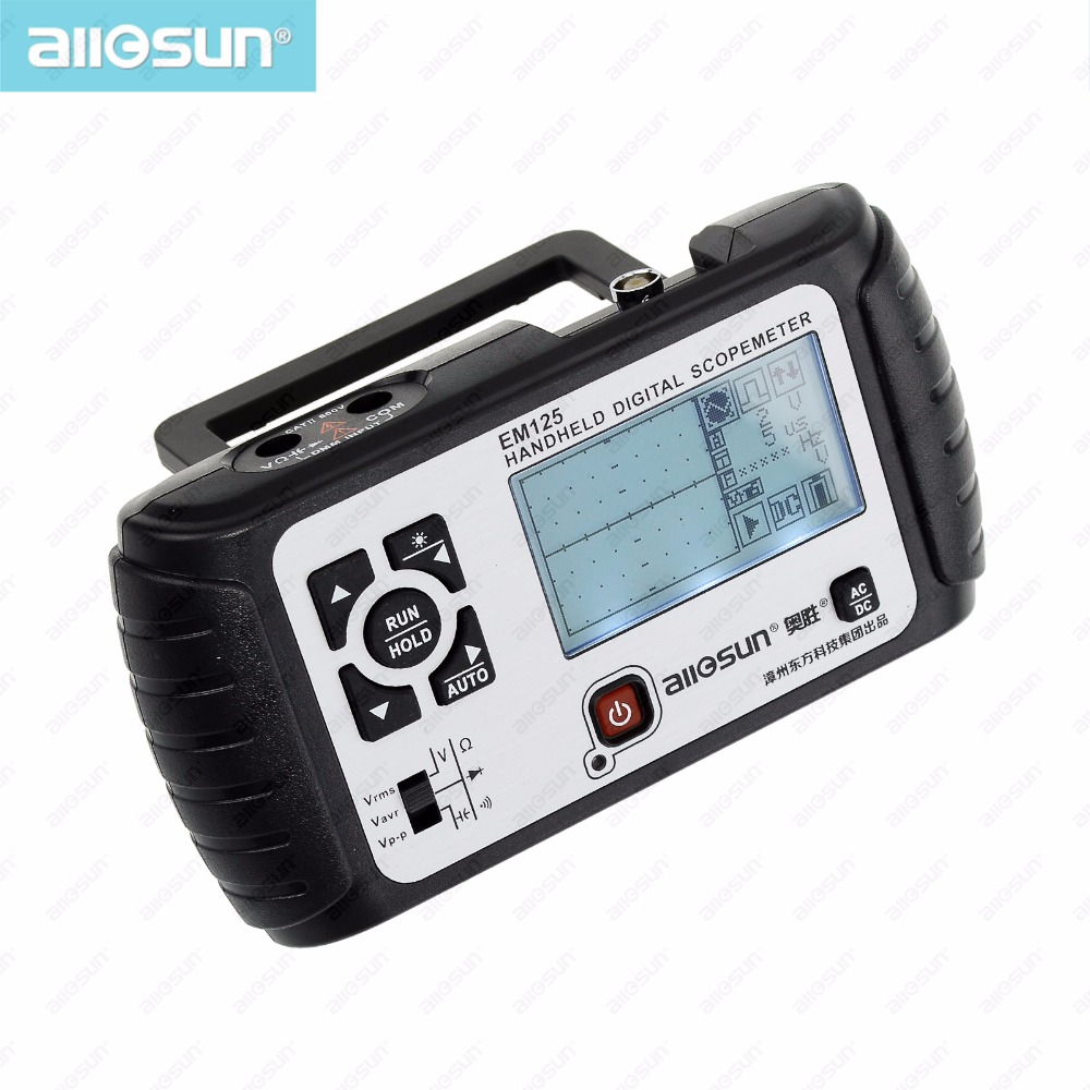 2 in1 Digital Multimeter Oscilloscope Multimeter 6000counts Portable Oscilloscope Voltmeter Ohmmeter Capacitance EM125