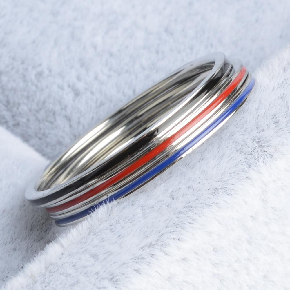 Keisha Lena совершенно новые титановые стальные комбинированные мужские/женские тонкие синие линия кольца пожарного ювелирные изделия Anel Masculino ...