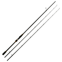 Johncoo Gladiator 2.4m Spinning Fishing rod Extra-Fast Action M MH 2 Tips Carbon Rod Test 10-40g Sensitive Fishing pole