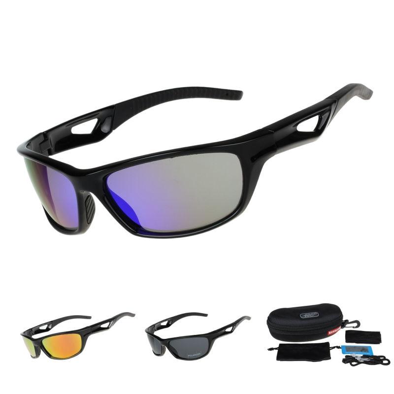 COMAXSUN Поляризовані окуляри на велосипеді Окуляри для їзди на велосипеді Окуляри для їзди на воді Риболовля Спорт на свіжому повітрі Сонячні окуляри UV 400 Tr90