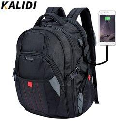 KALIDI gran bolsa de ordenador portátil de 18,4 de 17,3 pulgadas negro bolsos de carga USB de viaje bolsa de la escuela para los hombres las mujeres portátil bolsas 17 pulgadas