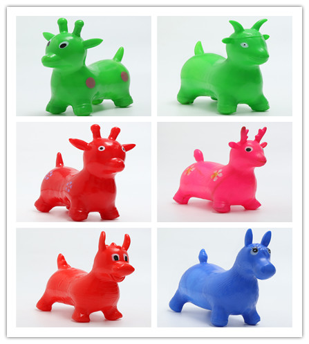 116c274a984 1pcs Y Horse Toys Rides On Animal Bounc Inflatable Bouncer Jumping Child  Kids Inflatable Rubber Deer Gift Toys Color Random