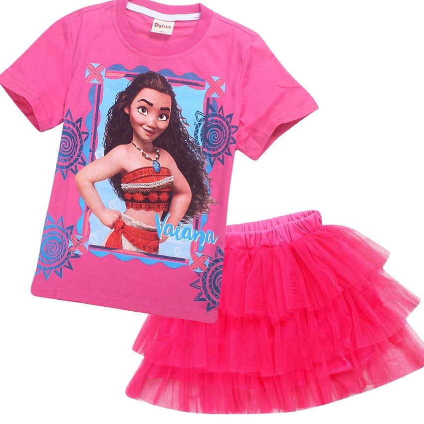 Moana niñas vestido impreso princesa vestido de fiesta de la ...