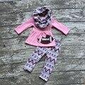 Зимняя одежда новорожденных девочек 3 шт. с шарфом устанавливает девушки одежда для футбола Ацтеков пант набор bay девушки футбол бутик набор