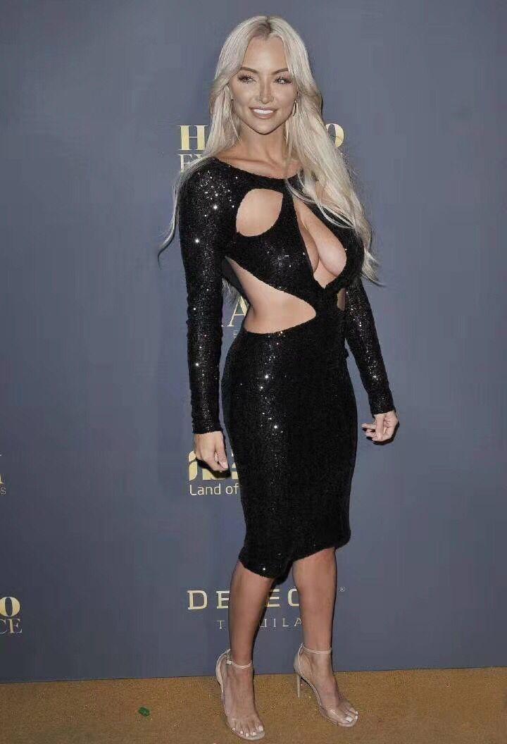 De Robe Femmes Nouveau Party Noir À Élégante Bandage Robes 2018 Paillettes Celebrity O Maille Longues cou Mode Manches Eq0awdnx