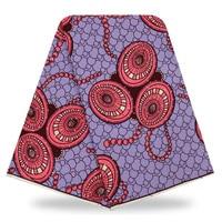 Tradizione Tessuto Della Stampa Della Cera del Cotone Africano con pietre Viola 100% Cotone Ankara tessuti Facendo Venduti 6 Yards YBGTZ-184