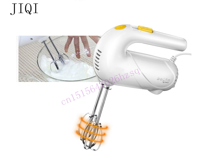 JIQI Electric Handheld Food Mixer Cream Egg Blender Bread Dessert Baking Helper Double Rod Mix 5 Gear Copper Motor Durable 125W