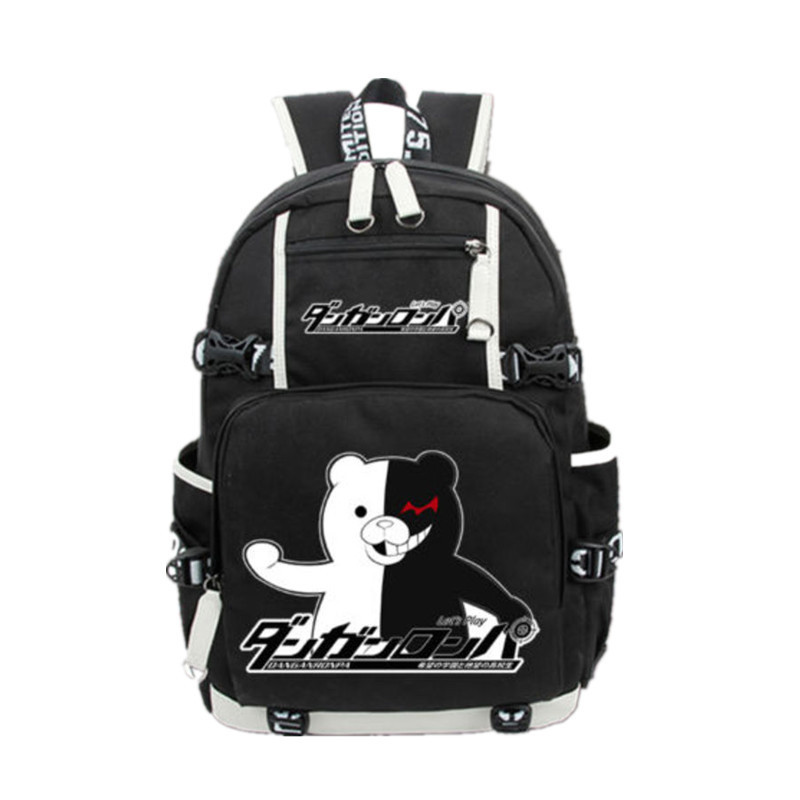 New Anime Black Backpack Danganronpa: Trigger Happy Havoc School Backpacks Knapsack Packsack Travel Laptop Shoulder Bags BookbagNew Anime Black Backpack Danganronpa: Trigger Happy Havoc School Backpacks Knapsack Packsack Travel Laptop Shoulder Bags Bookbag