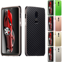 For Oneplus 6 Case 1+6 Aluminum Metal Frame+Carbon Fiber Hard Back Cover for One plus Phone Shell Oneplus6 1