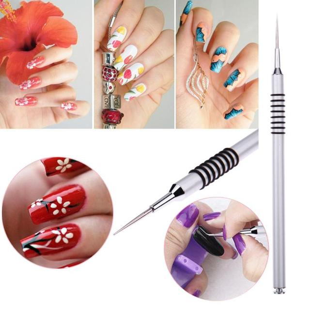 1 pc water marble dye painting pen silver drawing flower nail 1 pc water marble dye painting pen silver drawing flower nail polish gel pen diy design prinsesfo Gallery