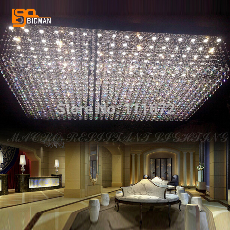 купить new crystal lamp large contemporary chandelier modern project lighting недорого