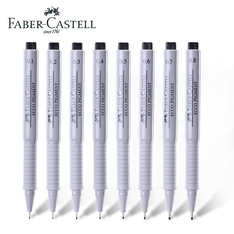 toller Wert billig für Rabatt Sonderrabatt von FABER-CASTELL Fineliner Pigment Liner Waterproof Black Ink 0.1 0.2 0.3 0.4  0.5 0.6 0.7 0.8mm Sketch Drawing Pen Manga Design