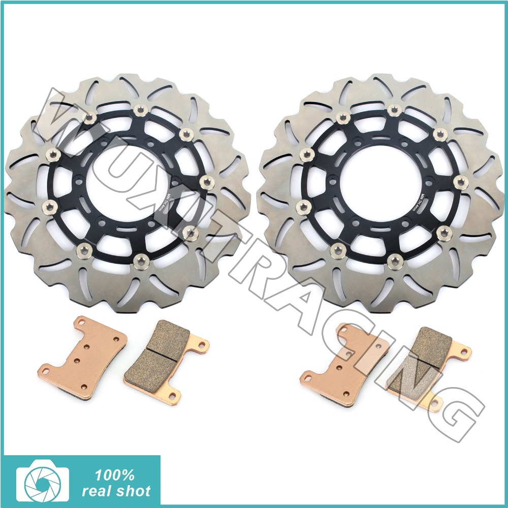 New Front Brake Discs Rotors Pads for Suzuki GSXR 600 750 2008 08 09 10 K8 K9 GSX-R 1000 2009 2010 11 2011 матрас орматек optima lux evs оптима люкс 200x195