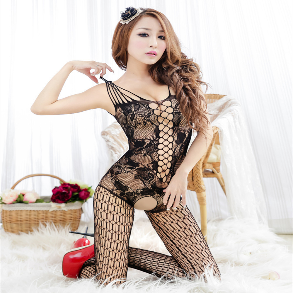 Sexy Lingerie Hot Erotic Lingerie Catsuit Bodysuit Open Crotch Female Sexy Underwear Women Costume font b
