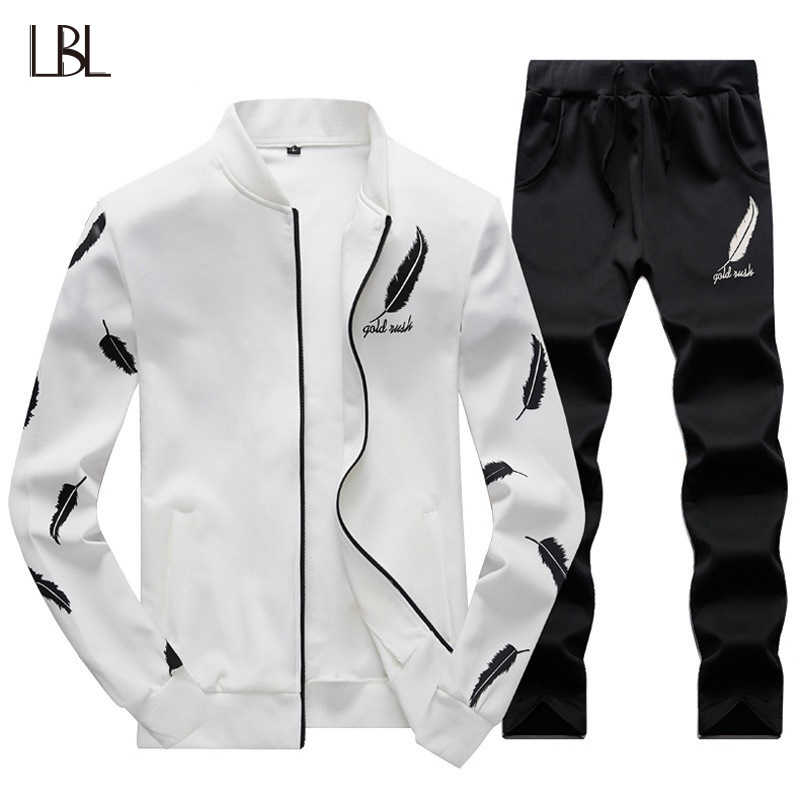 Тонкий для мужчин s Пот костюмы наборы для ухода за кожей спортивный костюм  мужской повседневное кофты fa2b1b61fa6