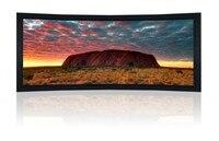150 дюймов изогнутые Рамки проектор Экран/Изогнутые Рамки Экран 150 дюймов/Изогнутые Экран для Кино/большой изогнутый рамки Кино Экран