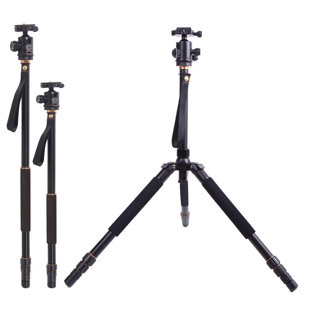 Prix pour RU Stock QZSD Q999S Trépied Amovible En Aluminium Professionnel Trépied Monopode avec QZSD-06 Rotule pour Canon Nikon Caméra
