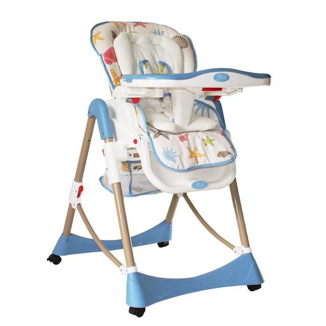 Folding Chair Plastic Metal Baby Dining Chair,Adjustable Baby Booster Seat  High Chair Portable Cadeira