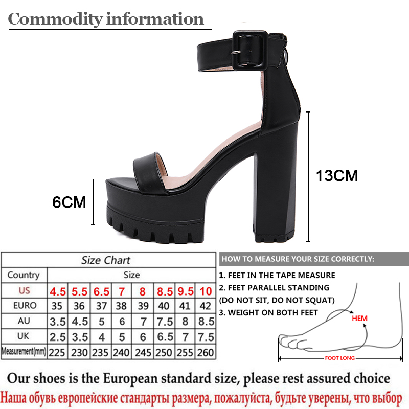 Gdgydh Open Toe Women Sandals High Heels 2020 New Summer Black Leather Women's Shoes For Party Platform Heels Female Hot Sale