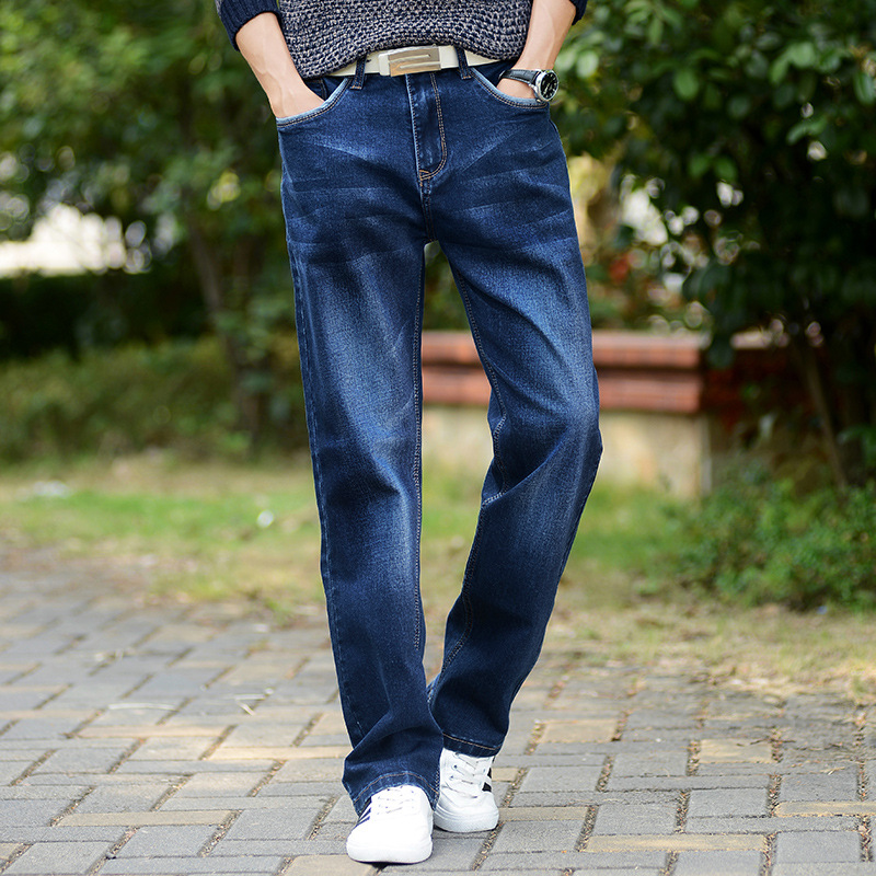 2018 Propcm New Spring Fashion Casual Loose Jeans Straight Breathable Elastic Comfortable Wide Leg Pants Plus Size Hi