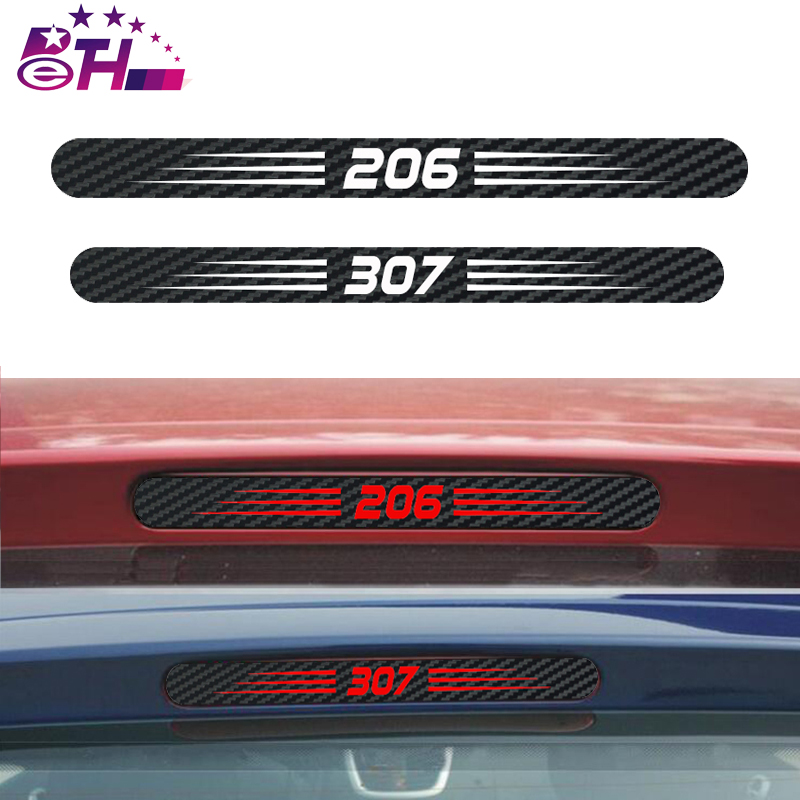 Car Styling Car Cover Car Protector Carbon Fiber Vinyl Sticker Brake Light Hatch Back Decoration For Peugeot 307 301 206 207