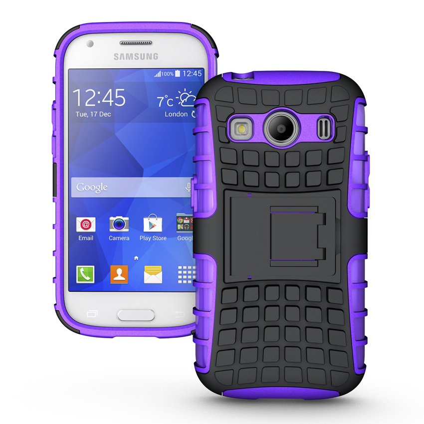 Asuwish Heavy Duty Armor Case For Samsung Galaxy Ace 4 Lite Neo Duos Ace4 G313 G313H G318H Phone