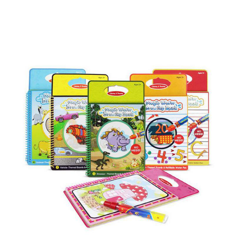 Magic Water Drawing Books Magic Pen Water Coloring Book Painting Board Animals Life Theme Toy