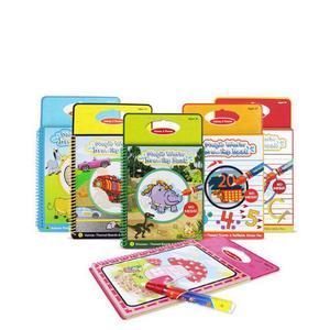 Волшебные Книги для рисования воды волшебная ручка водяная книжка-раскраска доска для рисования животных Тема для жизни игрушка