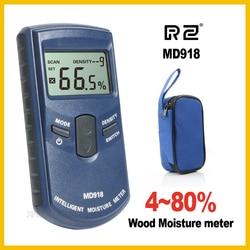 RZ Индуктивный Дерево Лесоматериалы измеритель влажности гигрометр Цифровой Электрический тестер измерительный инструмент MD918 4 ~ 80% плотно...
