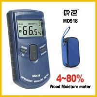 RZ Quy Nạp Gỗ Gỗ Moisture Meter Máy Đo Độ Ẩm Kỹ Thuật Số Điện Tester công cụ Đo MD918 4 ~ 80% Mật Độ electromanetic