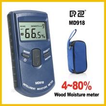 RZ الاستقرائي الخشب الأخشاب مقياس الرطوبة الرطوبة الرقمية الكهربائية تستر أداة قياس MD918 4 ~ 80% الكثافة الكهرومغناطيسية