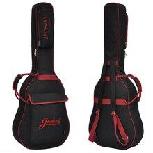 36 39 41 pulgadas paquete de la guitarra Popular Guitarra Acústica Doble correas Acolchadas Guitar Soft Case Ukulele Gig Bag Mochila a prueba de agua bolsa